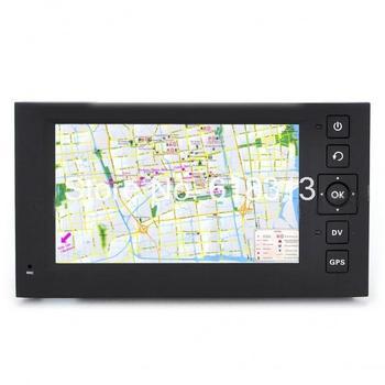 "2-in-1 4.3"" Touch Screen Win CE GPS Navigator + 3MP COMS Digital Car DVR Camcorder w/ TF - Black"