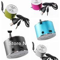 Free Shipping 5 Colors 750129 New Fashion Small Portable Mini USB MP3Player FM Radio Stereo Speaker