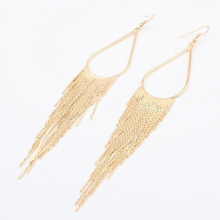 Min.order is $10 (mix order) E374 Fashion Tassel earring hoop earrings free shipping(China (Mainland))