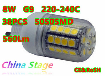 G9 Lampholder ,7.6W  220-240V LED lamp corn,free shipping