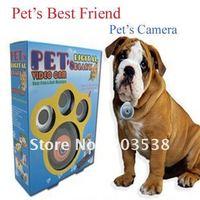 Free shipping 2012 pet's camera  pet collar video camera as pet's best friend Black color 1pcs/lot
