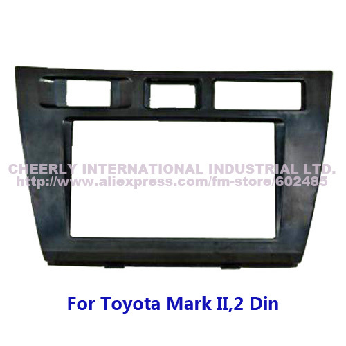 Free shipping 2Din Car Audio Installation Frame,Stereo Dash Kit, DVD Front Bezel,Fascia Facia for Toyota Mark II Double Din(China (Mainland))