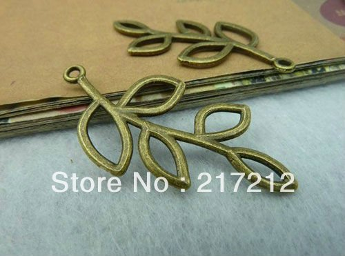 20pcs/lot Vintage Bronze Hollow Branches Charms Pendants 20*40mm Handmade Diy Jewellery Making(China (Mainland))