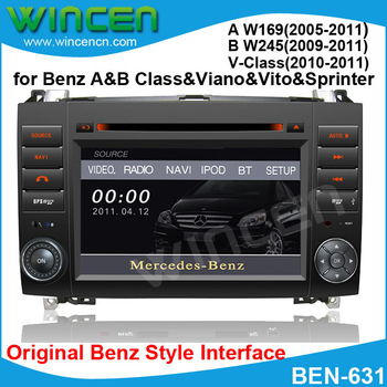 Car DVD Player for Benz A W169 B W245 Vito Viano Sprinter with original menu support Smart Parking Track Display Free shipping