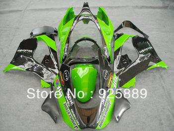 gloss black green for KAWASAKI ZX9R 00 01 02 03 ZX 9R 00-03 ZX-9R 2000 2001 2002 2003 2000-2003 ABS fairing kit