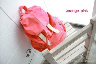 New arrival 2012 female canvas backpack school bag canvas bag travel bag backpack(China (Mainland))
