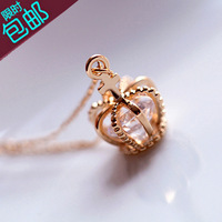 Accessories 18k gold mini crystal necklace female short design chain accessories hangings lanyards
