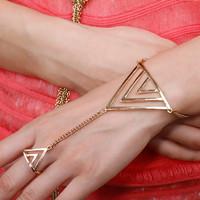 Sunshine jewelry store punk exaggerated triangle bracelets & bangles S169 ( $10 free shipping )