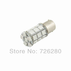 free shipping 1156 Car 5050 27 SMD LED crooked foot LED car turn signal license plate lamp Turn Tail fog Light Bulbs yellow(China (Mainland))