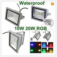 Dropshipping 16 Color 10W 20W RGB Flash Landscape Wash Lighting LED Floodlight led reflector 120 Degrees Aluminum Body