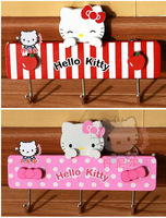 2013 NEW HELLO KITTY WALL PLAQUE COAT WOODEN HANGER WEDDING FAVORS WHOLESALE FREE SHIPPING