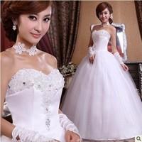 Hot sell.Love wedding dress rhinestone flower bride  Sweet lace Lovely High-quality  princess dress   style.wholesale