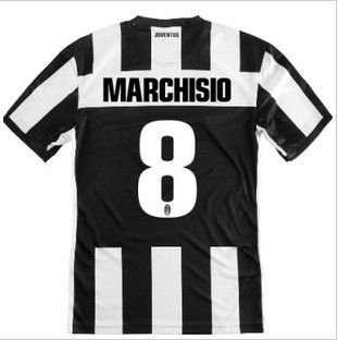 Hot Sell 2013 Juventus Home Best Thai Quality 8# MARCHISIO Soccer Jersey.Soccer Uniforms,Size:S-XL(China (Mainland))