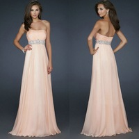 Cheap Sale ! 2013 New Arrived Floor Length Long Chiffon Evening Dress Formal Gown 2092