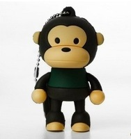 Wholesale  monkey  design 128GB Cartoon USB2.0 Flash Memory Drive Stick 1pcs free shipping