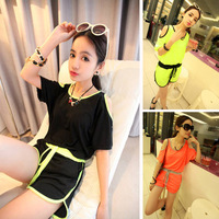 2013 women's summer loose strapless t-shirt casual one-piece shorts photchromic jumpsuit