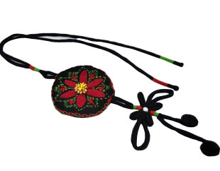 2013 New National trend necklace - embroidered handmade fabric necklace(China (Mainland))