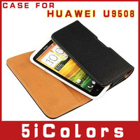 Free shipping Leather case BELT for 4.5inch HUAWEI U9508  case (5icolors-L)