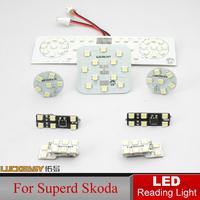 Top Quality Car LED Reading Lights Reading Light For Superb Skoda Bright Auto Interior Full Set LED Dome lamp Interior Lighting