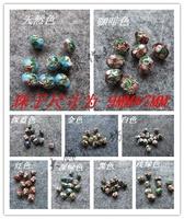 Diy accessories cloisonne bead oval shape cloisonne beads 50 pcs