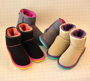 Dropshipping fashion women snow boots candy bright color low heels winter brand name designer snow shoes(China (Mainland))