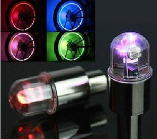 Bicycle colorful in the wind fire wheels mountain bike tire light wheel lights light valve shaped lamp(China (Mainland))
