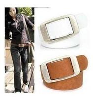 Free Shipping! Fashion Faux Leather Premium Metal Womens Strap Woman Ceinture Buckle Belt women's Belt All-Match Casual Belts