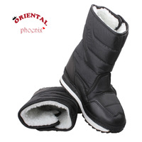 Slip-resistant waterproof  boy  child snow boots  warm winter  shoes