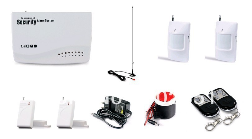 Wireless GSM Home Security Alarm System PIR Door Sensor gsm alarm system(China (Mainland))