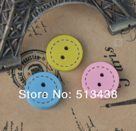 500pcs lot 15mm unusual round wood buttons ,baby DIY doll Educational toys crafts /sewing/ scrapbooking(China (Mainland))