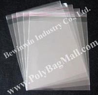 clear Poly Bag in size 19.5x26.5cm with self adhesive seal for retail & wholesale