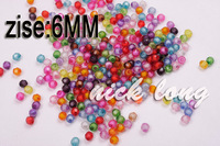 Wholesale 6mm Beads in the bead,DIY Jewelry Accessories 600pcs/lot free shipping