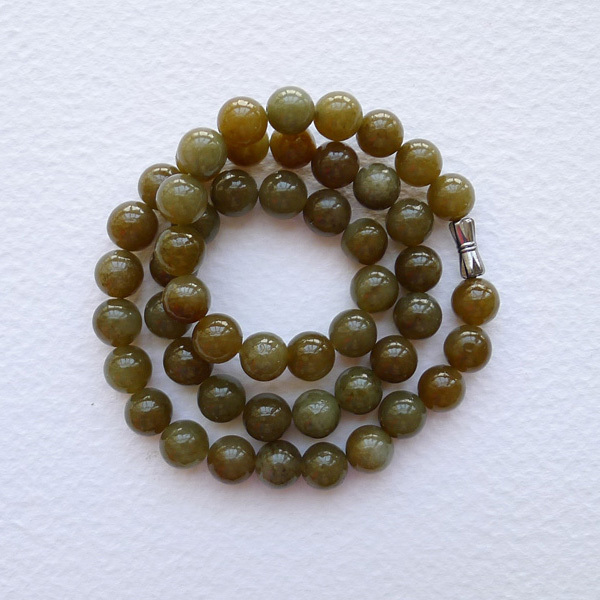 9mm deep love Chui language 0783 and nephrite sugar bead necklace to send a certificate(China (Mainland))