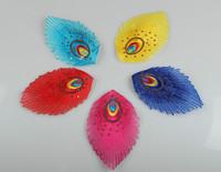 Peacock tail flower 13cm x  8cm cotton prints applique patch peacock clothes accessories