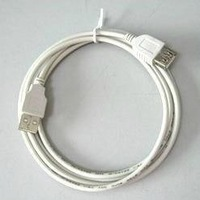 Free shipping 1.5 meters white usb extension cable usb a f lengthen line usb extension cable usb bus