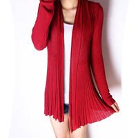 2013 summer all-match slim medium-long cutout viscose cardigan long-sleeve female thin