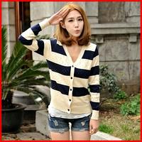 Loose cutout cardigan basic shirt sweater cardigan female spring and autumn coat women