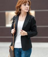 Plus size clothing spring short jacket 2013 mm new arrival slim long-sleeve women's blazer