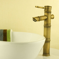 Fashion bathroom antique faucet antique bamboo copper 6015