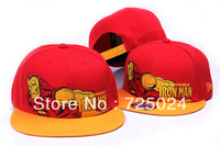 Free shipping!2013 iron man caps snapbacks, Wholesale baseball caps snapbacks,cartoon cap