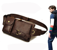 Head layer cowhide leather purse outdoor leisure multifunctional bag genuine leather waist pack