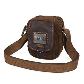 backpack Male canvas shoulder bag messenger bag casual backpack man bag small messenger bag female 2013