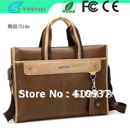 Free Shipping 2012 New Style Genuine Leather Fashion Handbag/Message Bag Briefcase Bags for Men with High quality(China (Mainland))