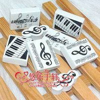 free shipping music note eraser four style mix order