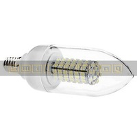 2X E14 5W 102 SMD 3528 LED 600-LM White/ Warm White Candle Bulb with Clean Candle Cover AC 110V
