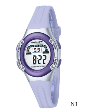 Free shipping Child table girl electronic watch waterproof sports alarm clock luminous 1 10(China (Mainland))