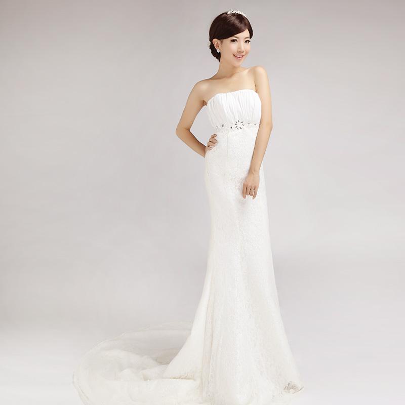 2013 fish tail tube top train wedding dress wedding dress On tube top wedding dress