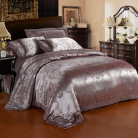 Home textile bedding tencel cotton jacquard four piece set satin 4 wedding bedding e