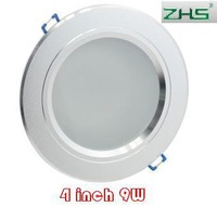 wholesale 4 inch LED downlight lamp 85-265V input Frosted Glass Antifog Bathroom Recessed Ceiling Down Light lamps 9W 50pcs/lot