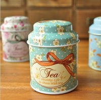 zakka small  Scented Tea canister caddy Tin Box Food Iron Storage Box Home Decoration Gift